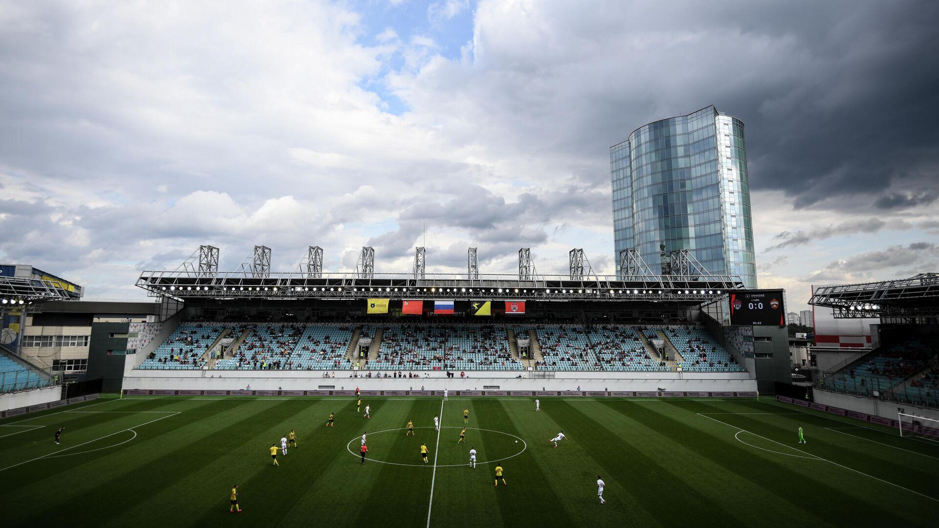 Игроки на поле стадиона Арена Химки - РИА Новости, 1920, 16.09.2021