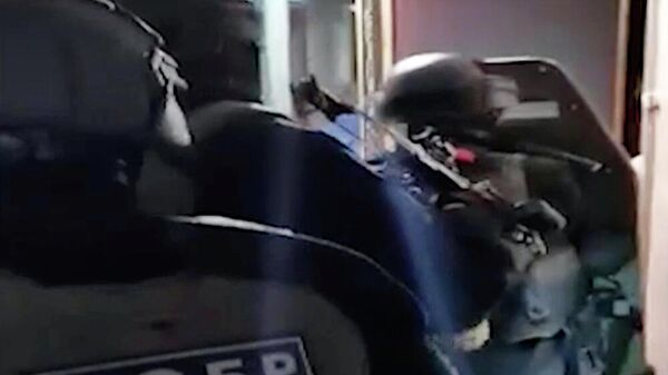 Операция по задержанию украинских неонацистов. Кадр видео