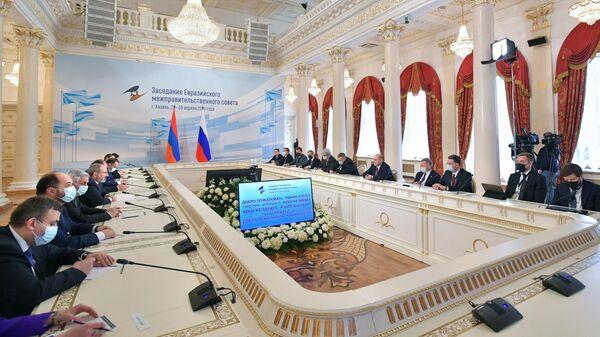 Председатель правительства РФ Михаил Мишустин принимает участие в заседании Евразийского межправительственного совета