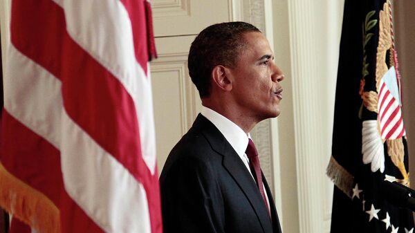 Президент США Барак Обама после объявления о ликвидации Усамы бен Ладена. 2 мая 2011