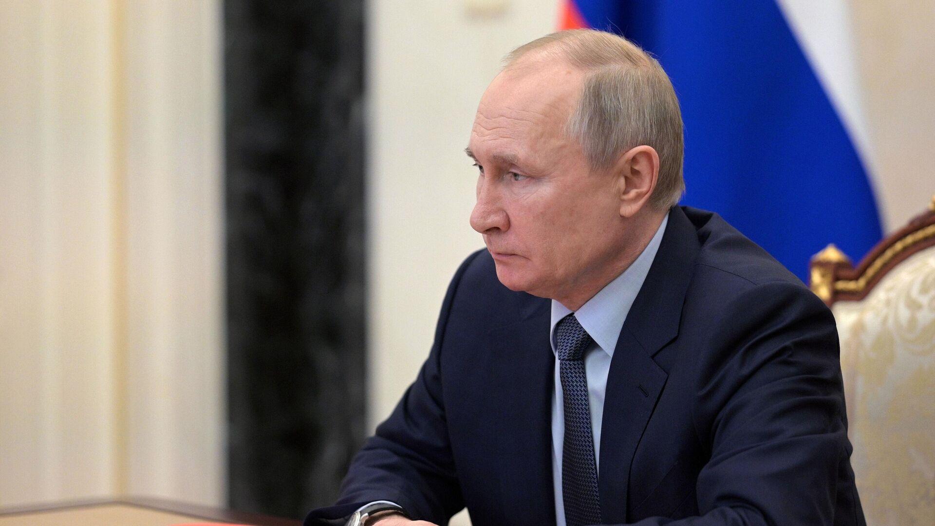 Президент РФ Владимир Путин проводит оперативное совещание с постоянными членами Совета безопасности РФ - РИА Новости, 1920, 30.04.2021