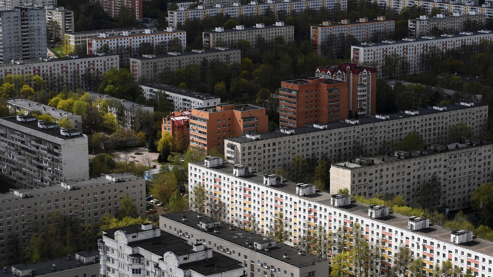 Жилые дома в одном из районов Москвы - РИА Новости, 1920, 10.06.2021