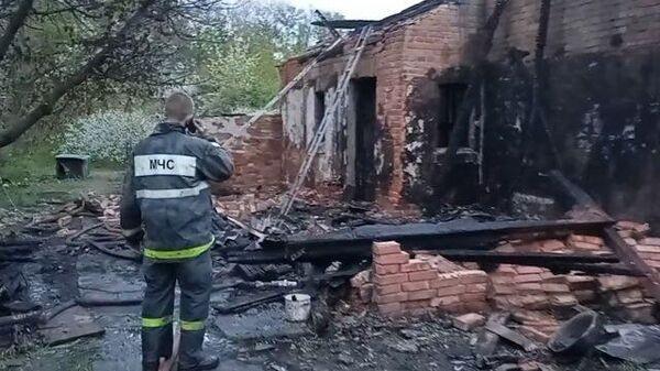 Последствия обстрела окраины Донецка со стороны ВСУ