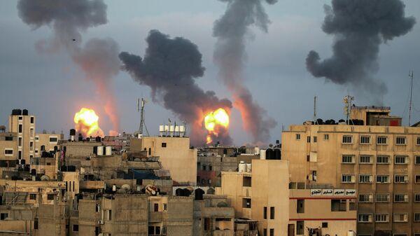 Израильские воздушные удары на юге сектора Газа