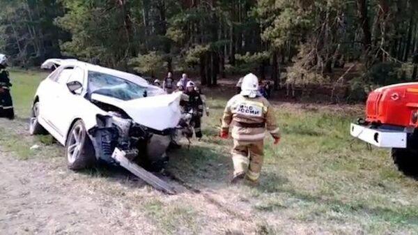 Пять человек погибли в ДТП в Курганской области. Кадры МЧС
