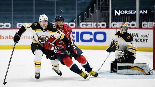 Игровой момент матча НХЛ Вашингтон - Бостон
