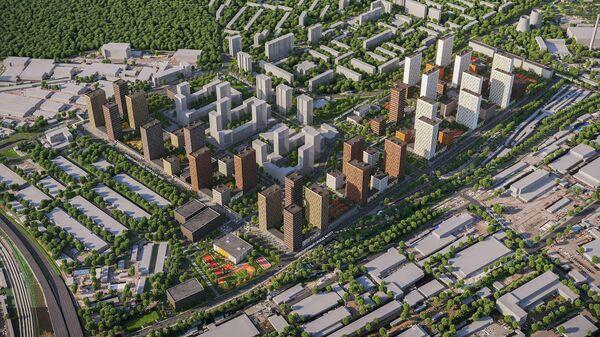 Проект ЖК в районе Гольяново на востоке Москвы
