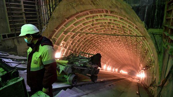 Строительство станции метро Марьина Роща  БКЛ