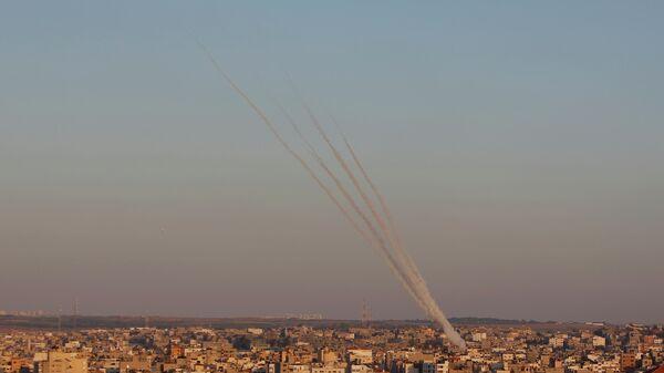 Ракетный залп с территории сектора Газа по Израилю
