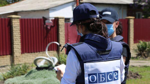 Представители мониторинговой миссии ОБСЕ в Донецке