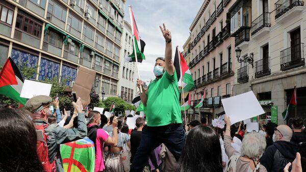 Демонстрация в поддержку Палестины в Мадриде
