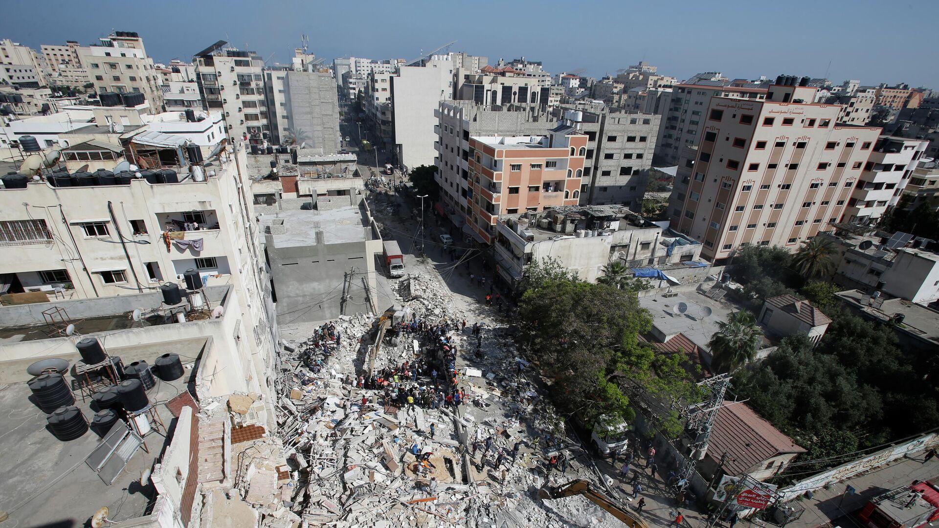 Последствия удара израильских сил по сектору Газа - РИА Новости, 1920, 16.05.2021