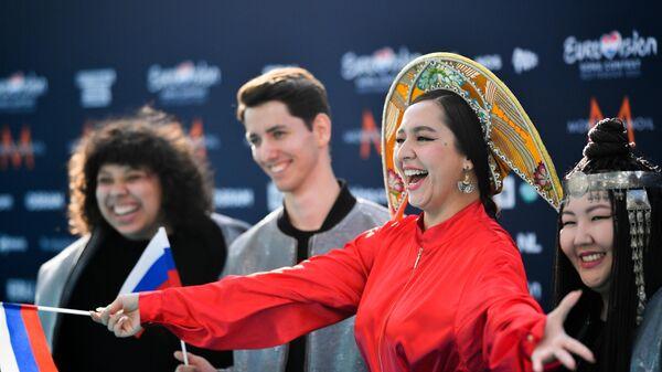 Певица Манижа перед началом церемонии открытия 65-го международного конкурса песни Евровидение-2021
