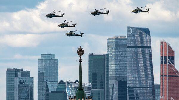 Генеральная репетиция воздушной части парада Победы в Москве
