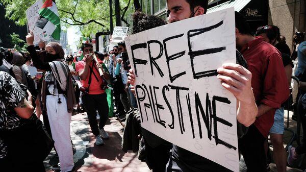 Митинг в поддержку Палестины в Нью-Йорке - 18.05.2021