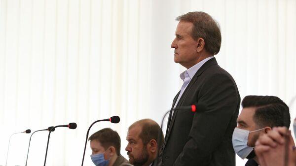 Виктор Медведчук, подозреваемый в госизмене и расхищении национальных ресурсов, в Киевском апелляционном суде