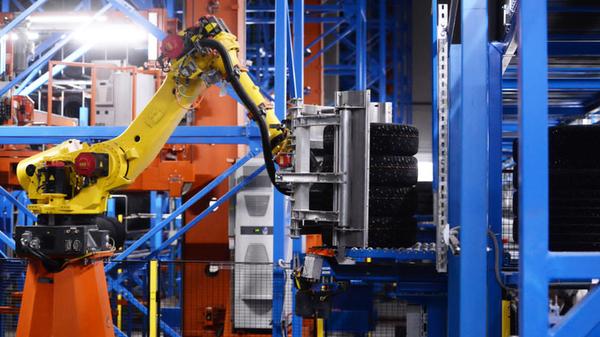 Автоматизированный склад готовой продукции на предприятии компании Nokian Tyres в Ленинградской области