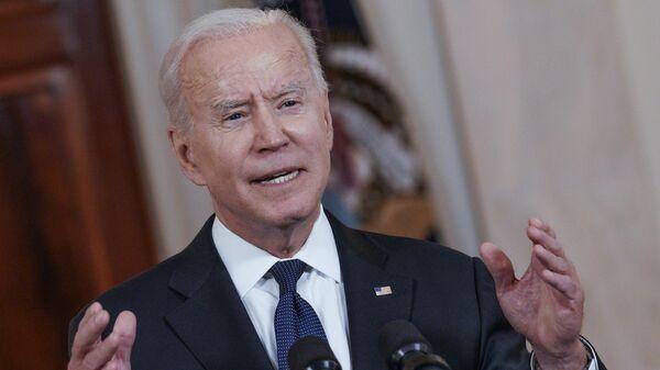 Президент США Джо Байден выступает в Белом доме с кратким заявлением по ситуации в зоне конфликта на Ближнем Востоке