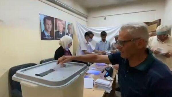 Кадры с участков голосования в Дамаске