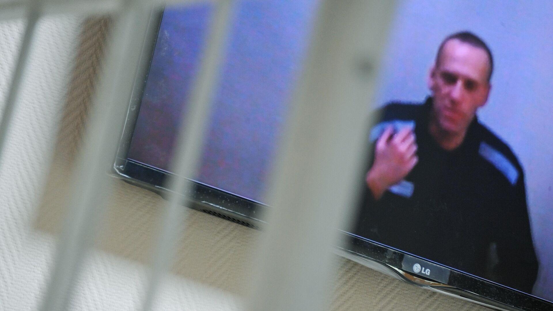 Алексей Навальный по видеосвязи участвует в заседании Петушинского районного суда Владимирской области - РИА Новости, 1920, 26.07.2021