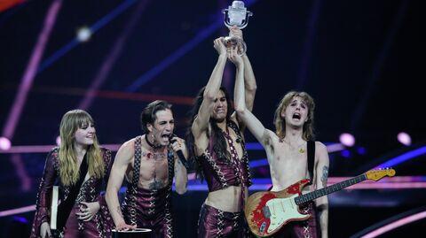 Итальянская группа Maneskin, победившая в конкурсе Евровидение-2021 в Роттердаме