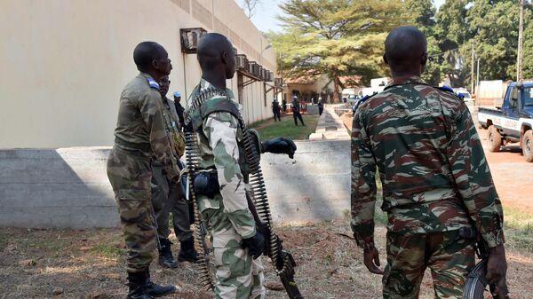 Сотрудники правоохранительных органов Центральноафриканской Республики в городе Банги