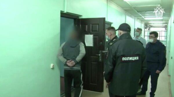 Допрос обвиняемого в стрельбе в Екатеринбурге. Кадр из видео