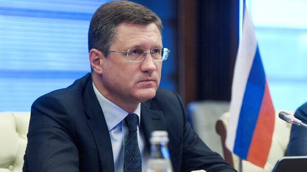 Заместитель председателя правительства РФ Александр Новак принимает участие в режиме видеоконференции в 14-й министерской встрече ОПЕК+