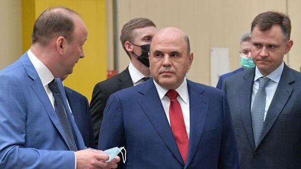Председатель правительства РФ Михаил Мишустин во время посещения производственной площадки АО Аэрокомпозит-Ульяновск.