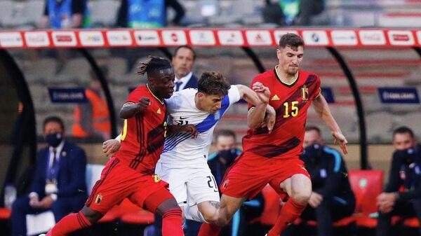 Эпизод матча Греция - Бельгия