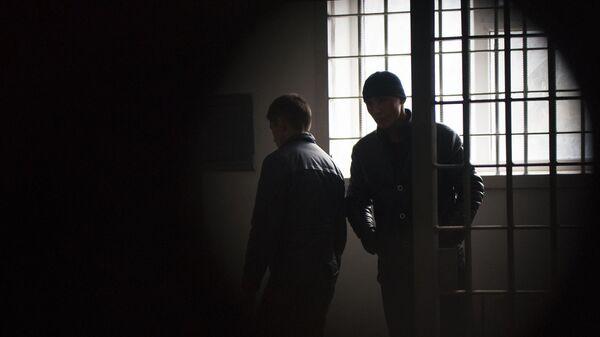 Заключенные в исправительной колонии