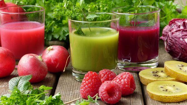 Напитки из свежих овощей, фруктов и ягод