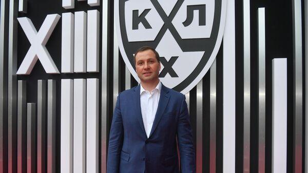 Президент Континентальной хоккейной лиги (КХЛ) Алексей Морозов на церемонии закрытия сезона КХЛ 2020/2021 в Барвиха Luxury Village в Московской области.