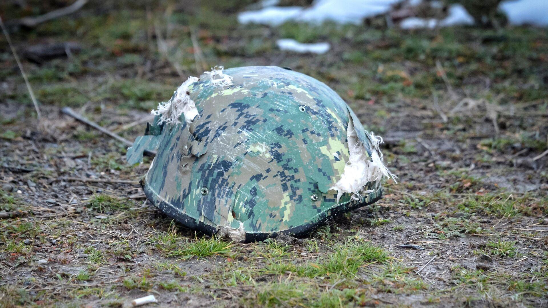 Защитный шлем военнослужащего - РИА Новости, 1920, 24.07.2021
