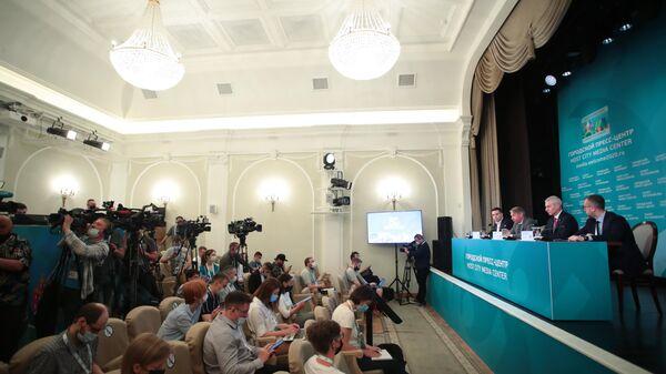 Открытие городского пресс-центра Евро-2020 в Санкт-Петербурге