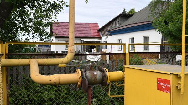 Газораспределительное устройство в секторе малоэтажной жилой застройки на окраине Новосибирска.