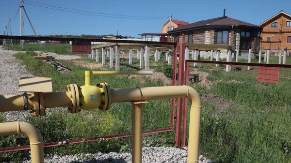 Газораспределительное устройство в одном из СНТ в Тульской области