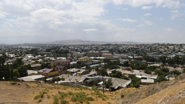 Вид на город Истаравшан в Таджикистане