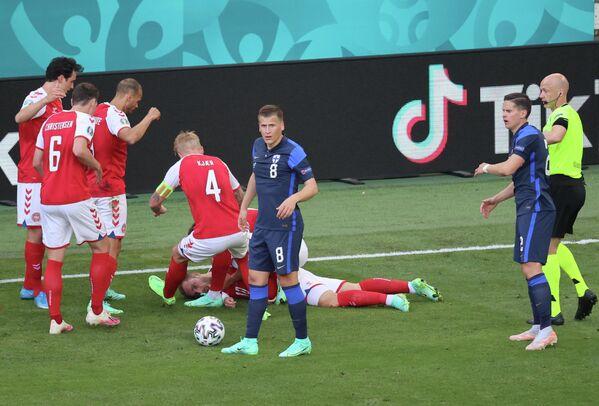 Футболист сборной Дании Кристиан Эриксен потерял сознание на поле