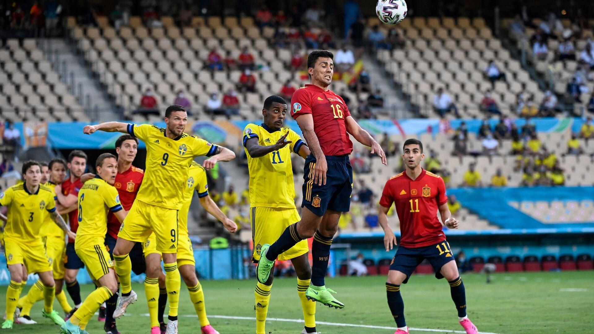 Игровой момент матча Испания - Швеция - РИА Новости, 1920, 15.06.2021