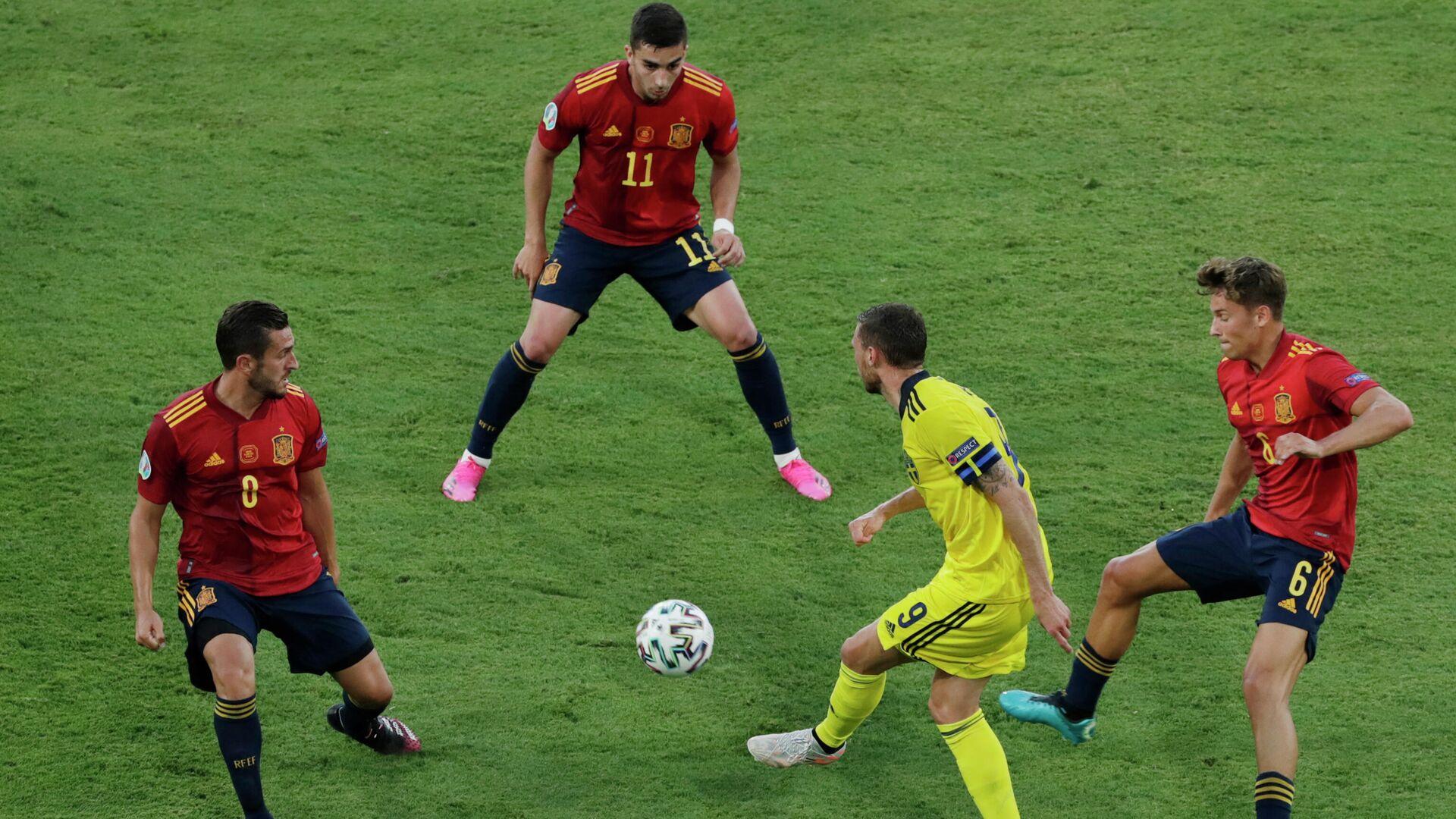 Игровой момент матча Испания - Швеция - РИА Новости, 1920, 14.06.2021