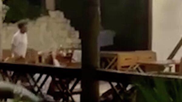 Кадры стрельбы в Самшитовой роще Абхазии