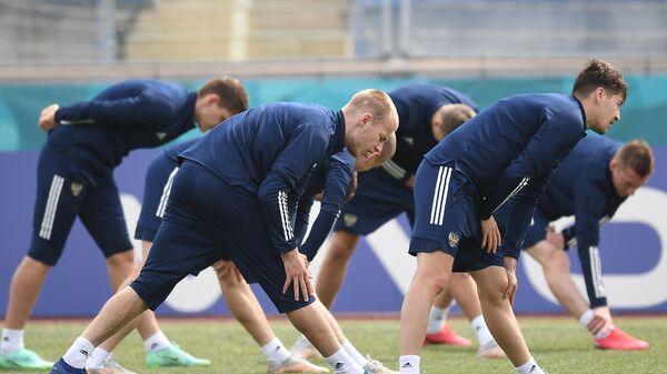 Футбол. ЧЕ-2020. Тренировка сборной России