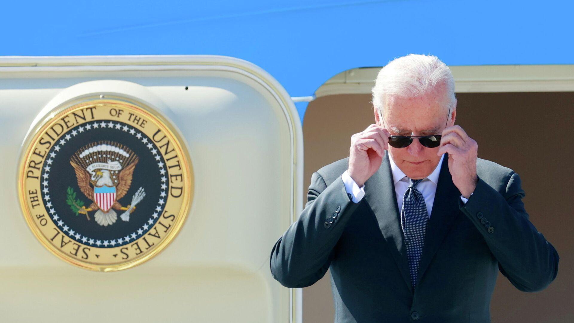 Президент США Джо Байден во время прибытия в Женеву перед встречей с президентом России Владимиром Путиным - РИА Новости, 1920, 09.07.2021