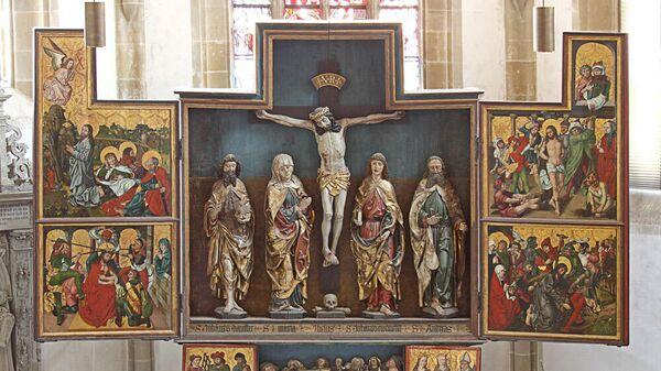 Створчатый алтарь, расположенный в церкви Святого Иоанна в Крайльсхайме, Германия