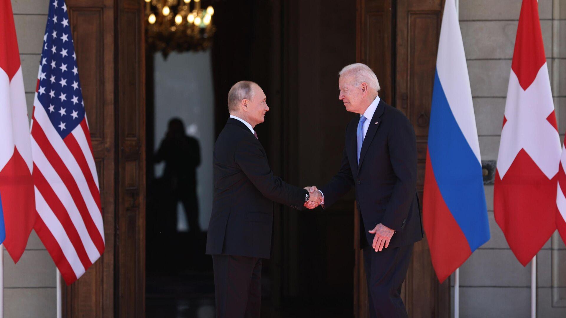 Встреча президентов России и США В. Путина и Дж. Байдена в Женеве - РИА Новости, 1920, 14.10.2021