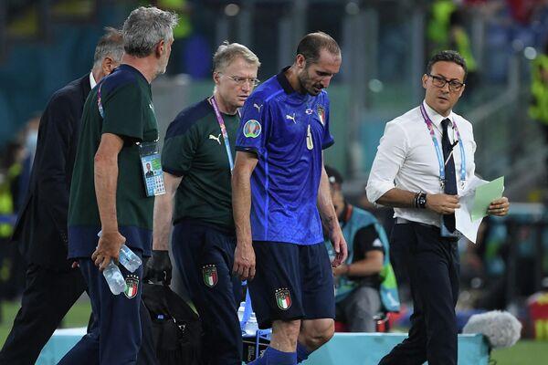 Капитан сборной Италии по футболу Джорджо Кьеллини