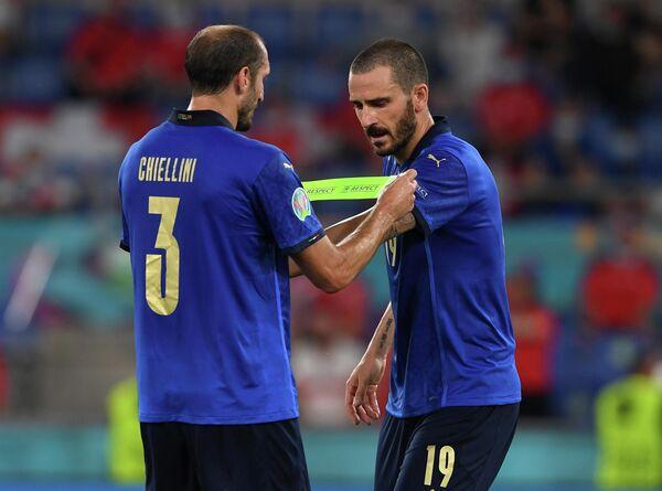 Защитники сборной Италии Джорджо Кьеллини и Леонардо Бонуччи