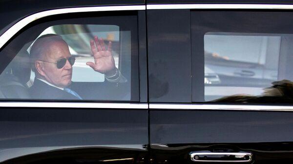 Президент США Джо Байден после встречи с президентом РФ Владимиром Путиным в Женеве