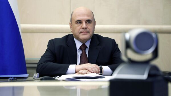 Председатель правительства РФ Михаил Мишустин проводит совещание с членами кабинета министров РФ в режиме видеоконференции